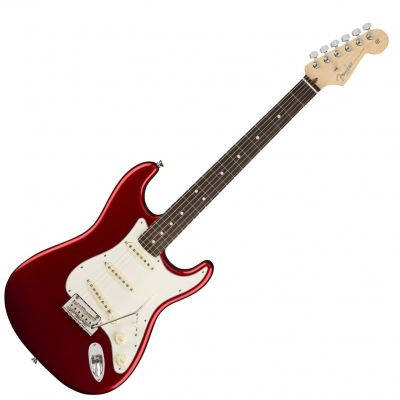 Fender American Professional Stratocaster Electric Guitar, Rosewood FB, Candy Apple Red