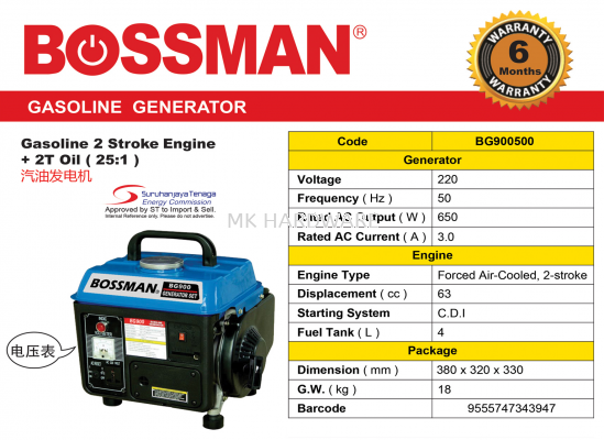 GASOLINE GENERATOR WITH METER