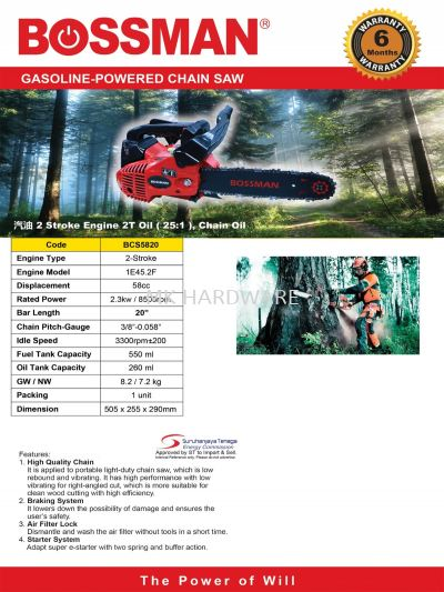 POWER CHAIN SAW 20""