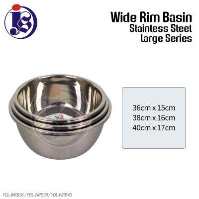 Multi Purpose Stainless Steel Basin (Large) 36cm / 38cm / 40cm