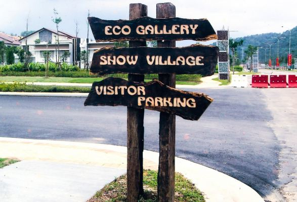 Free standing signage-wood carving lettering