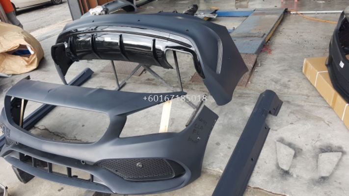 mercedes benz cla w117 bodykit a45 amg facelift style full set bodykit for cla w117 upgrade replace performance look pp material brand new set