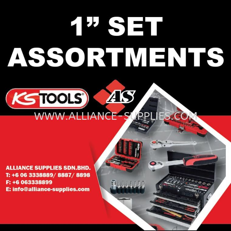 "KS TOOLS 1"" Set Assortments 1"" Set Assortments 06.2 KS TOOLS Sockets & Operating Tools 06.KS TOOLS"