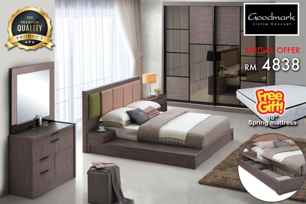 Bed Set (Free 10'' Mattress)