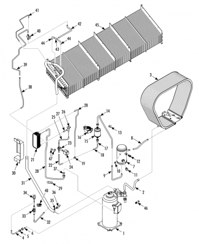 Refrigeration Components w Micro Channel Coil (Service Valves) (298F2)