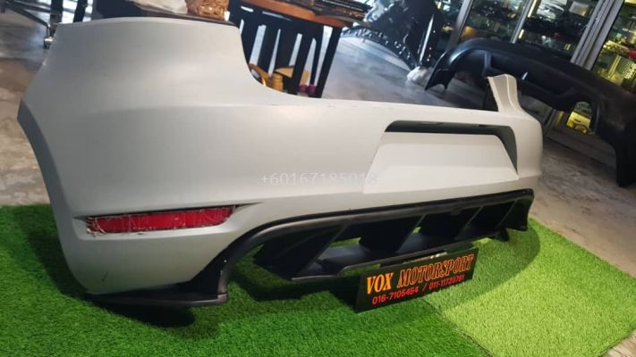 volkswagen golf mk6 rear bumper gti with revozport diffuser for mk6 tsi replace upgrade performance look pp frp material brand new set
