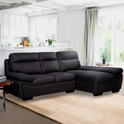 Lazzo 383 L Shape Sofa 3 Seater Sofa Canvas Fabric Cloth