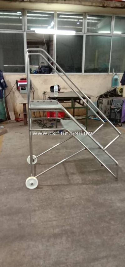 Stainless Steel Moveable Platform Ladder
