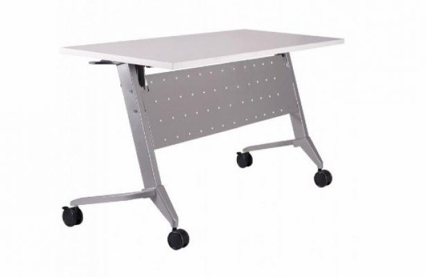Heavy duty training foldable table with castor A1