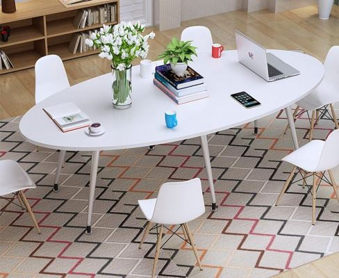 Home Office Boat-shape Conference Meeting Table
