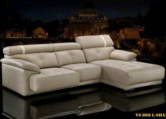 LSHAPE SOFA PU leather Comfort Pull out