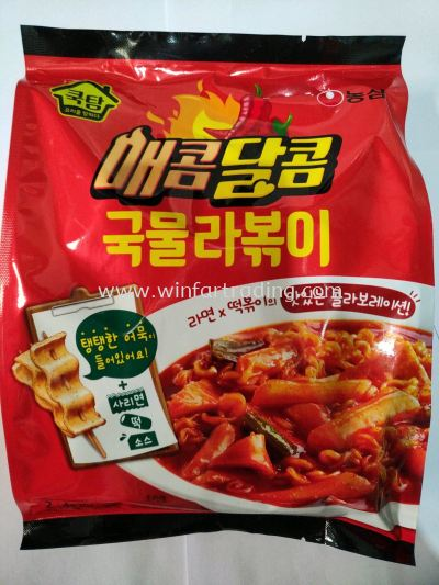 NONGSHIM STIR FRY RICE CAKES WITH NOODLES AND SOUP 390G BC 8801043043991