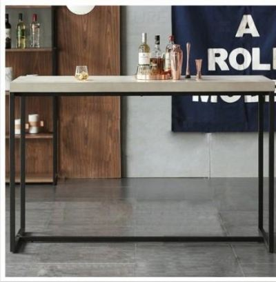 OLein 5 cm Thick Solid Rubber Wood Bar Table