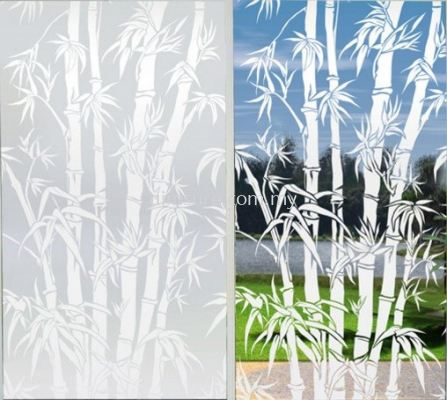 Frosted film design 19 (bamboo)