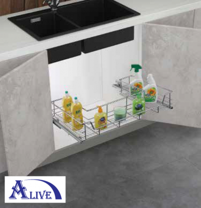 UNDERSINK U-SHAPED PULL OUT BASKET (SUS304)