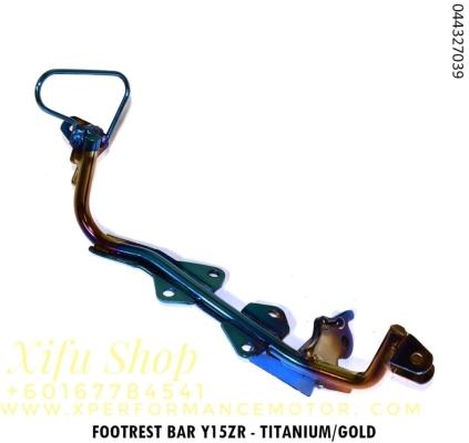 FRONT FOOTREST BAR Y15ZR TITANIUM GOLD