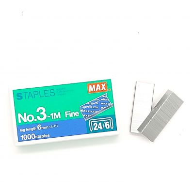 Max Staples 3-1M (20pcs/Box)