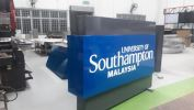 Monument sign-aluminium box up with 2K painting & LED light inside Free Standing & Directional Signage