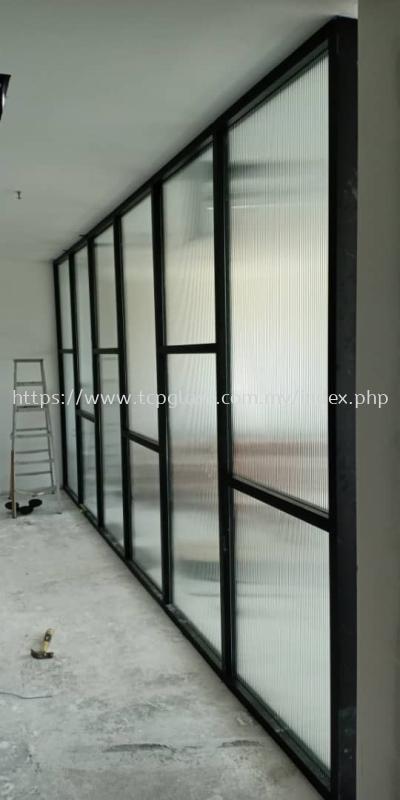 Shopfront Aluminium Frame with Reeded Glass