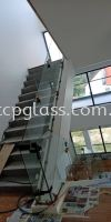 Staircase Glass W 12mm Tempered Clear Glass 2 STAIRCASE GLASS