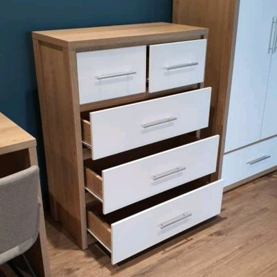 Glossy White Chest Of Drawer