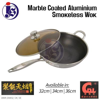 Gathering Smokeless Stainless Steel Wok - Long Handle