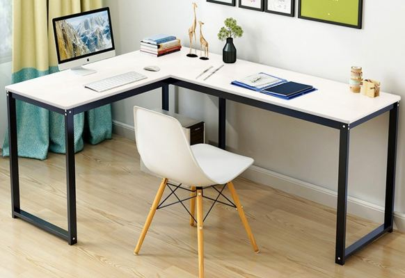 AMABILE L Shape Study Table with EAMES CHAIR