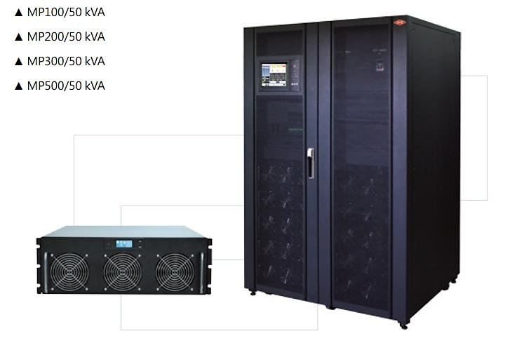 Three Phase Online UPS; 50KVA Modular Type