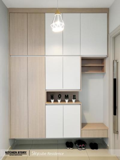 Full Height Custom Shoe Cabinet Design Refer - Penang