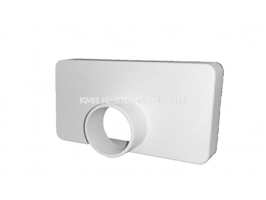 UPVC Rectangular End Cap with 25mm Outlet