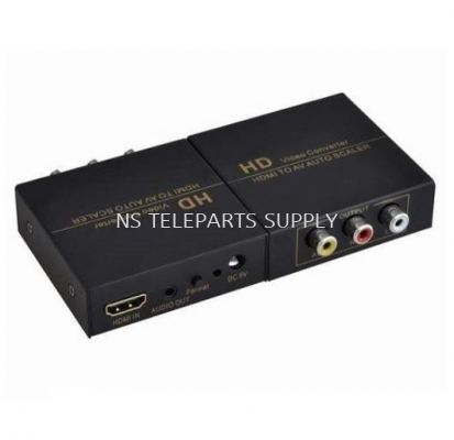 HDMI TO AV Converter with Power adapter  Model: FJ-HA1308