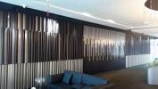 Partition wall decoration-PVC foamoard with LED light Welding Iron Work, Laser Cutting Pattern, Other