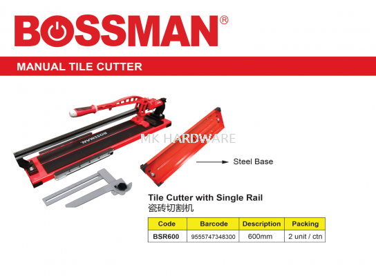 TILE CUTTER WITH SINGLE RAIL (600MM)