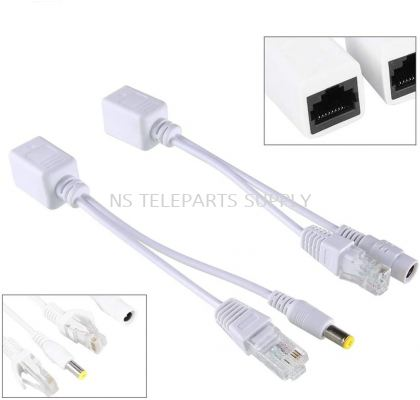 CCTV INJECTOR CABLE DC+ RJ45 + 5.5X2.1MM