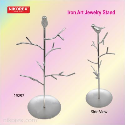 19297 Iron Art Jewelry Stand