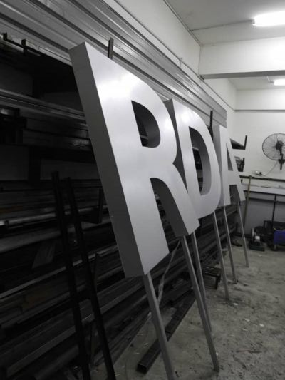 3D ALUMINIUM BOX UP WORDING