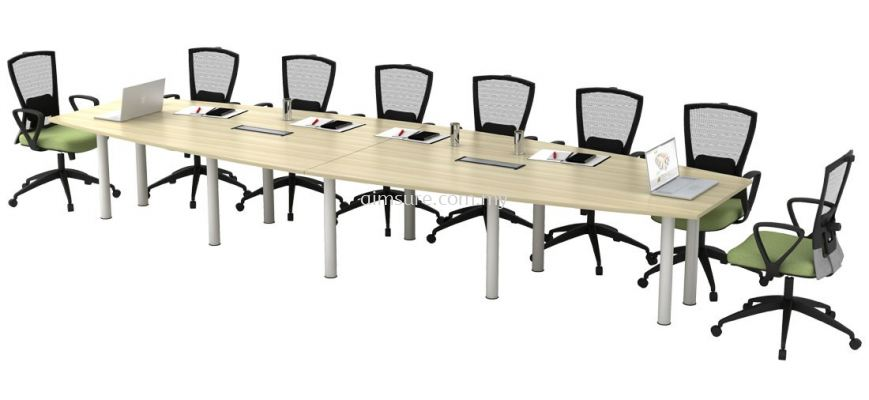 Conference table with pole metal leg AIM48-BBC-SET-500