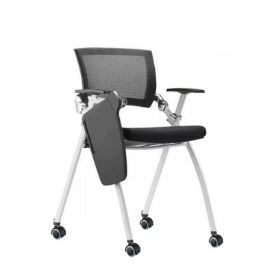 Pragmatic Breathable Mesh Office Movable Training Chair With Rotatable Writing Pad