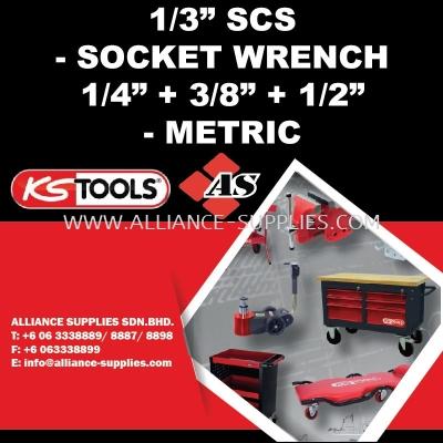 "KS TOOLS 1/3 SCS - Socket Wrench 1/4"" + 3/8"" + 1/2"" - Metric"