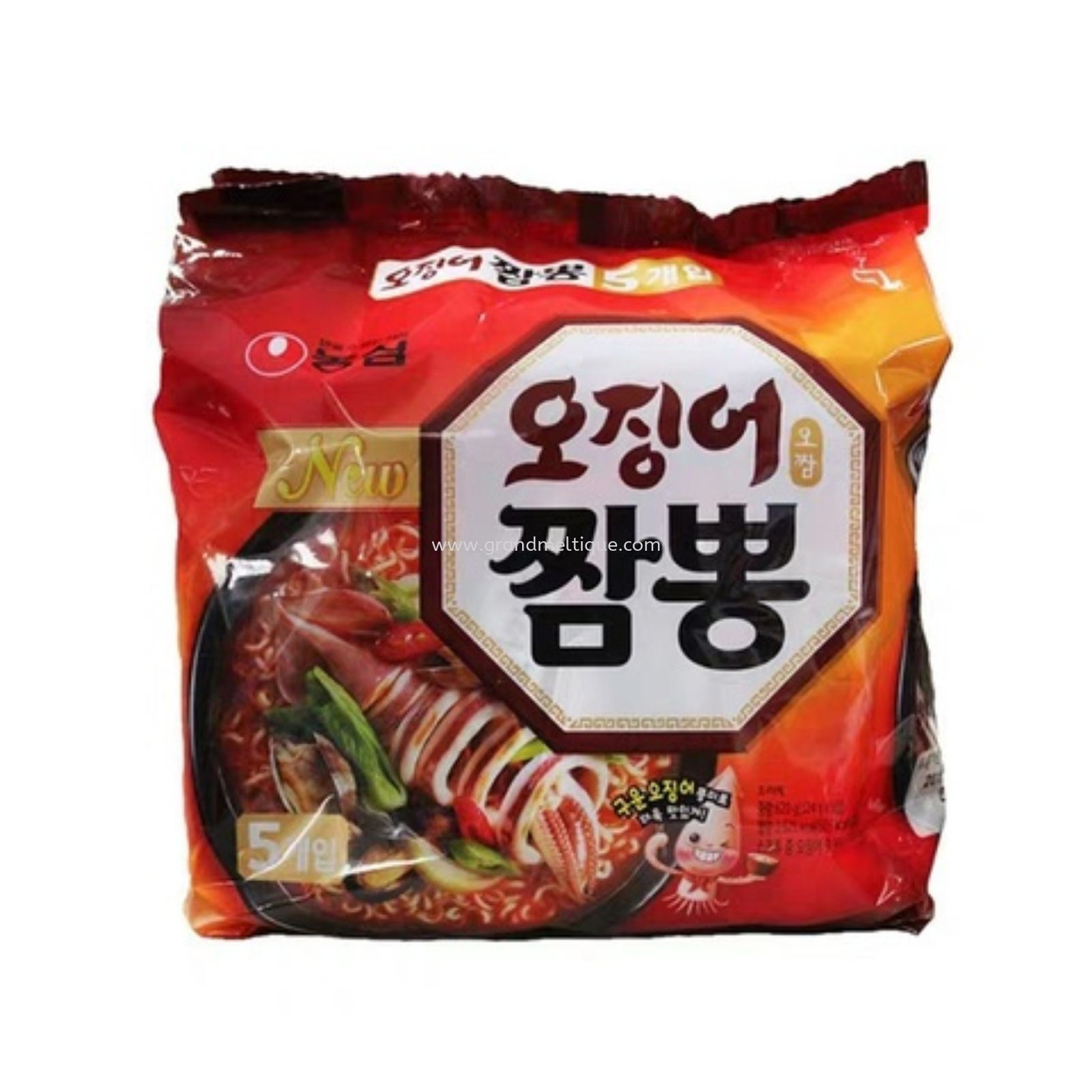 NONGSHIM CHAMPONG SEAFOOD NOODLE农心鱿鱼面 124G