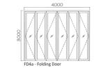 FD4a Powder Coated c/w 12mm Albedoor Multifold Door MF02-40 Folding Door