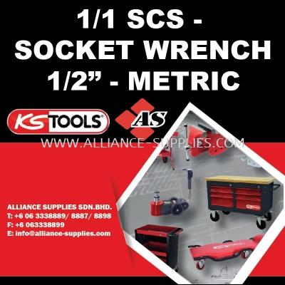 "KS TOOLS 1/1 SCS - Socket Wrench 1/2"" - Metric"
