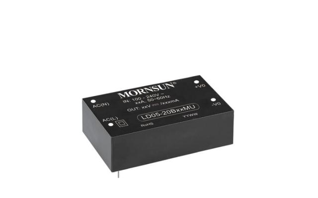 Mornsun Compact AC/DC converter LD05-20BxxMU