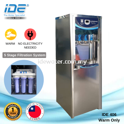 IDE 406 Warm Stainless Steel Water Fountain