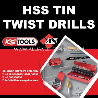 KS TOOLS HSS Tin Twist Drills