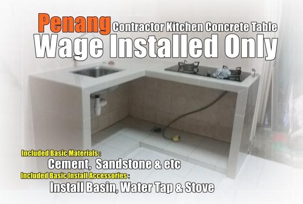 Kitchen Concrete Table - Workmanship Only - Penang