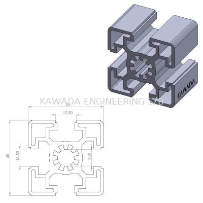 Aluminium Profile 45 X 45