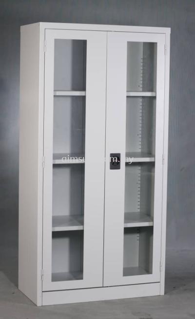 Full height steel cabinet swing glass door