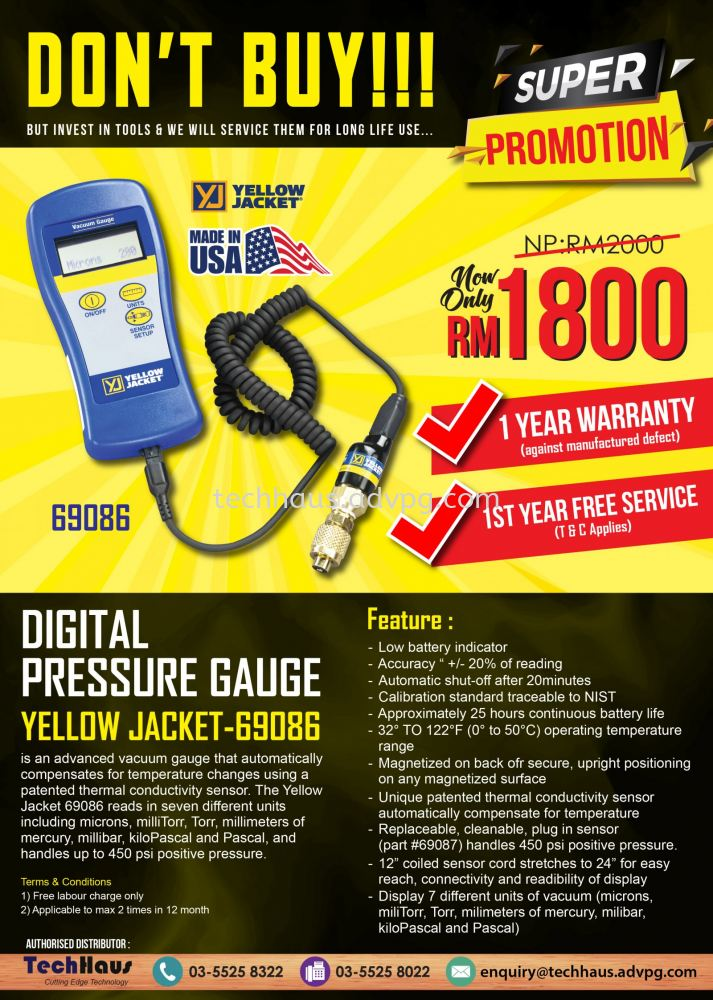 Promotion Digital Pressure Gauge - 69086