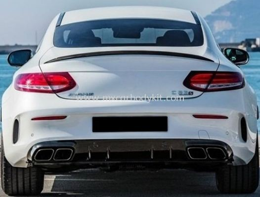 MERCEDES BENZ C-CLASS W205 COUPE 2019 C63 STYLE REA DIFFUSER